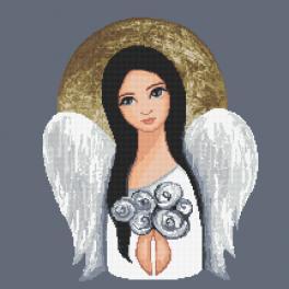 GC 10476 Vzor na vyšívání vytištěný - Anděl z Tiché noci