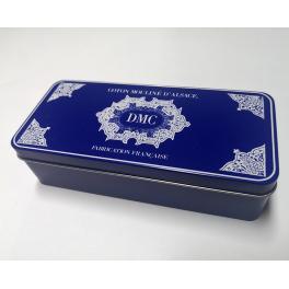 BOX2 Krabička na mulinku DMC modrá