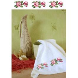 Ručník s magnoliemi - Předloha
