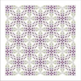 Ubrus s fialkami - Předloha
