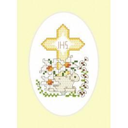 Velikonoční karta - Beránek - Předloha