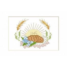 Přijímání- Karta - chléb a hostie - Předloha