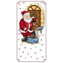 Adventní kalendář – Svatý Mikuláš s dárečky - Předloha