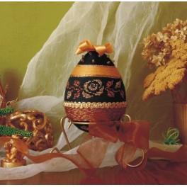 Dekorační vajíčko se zlatou růží - B. Sikora - Předloha