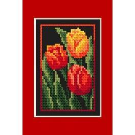 Narozeninová karta - Tulipány - B.Sikora - Předloha