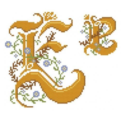 GU 4477-05 Monogram E - B. Sikora-Malyjurek - Předloha