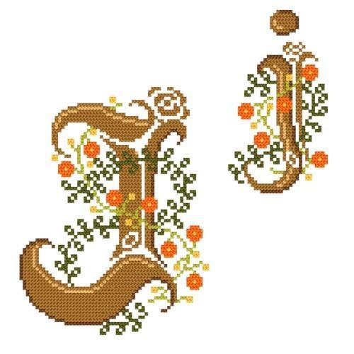 GU 4477-10 Monogram J - B. Sikora-Malyjurek - Předloha