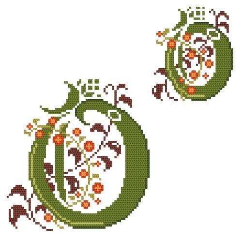 GU 4477-16 Monogram O - B. Sikora-Malyjurek - Předloha