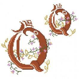 Monogram Q - Předloha