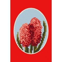 Karta na přání- Hyacint - Předloha