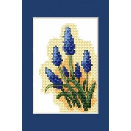 Velikonoční karta- Modřenec - Předloha