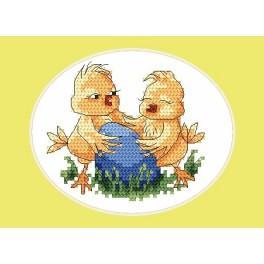 Velikonoční karta- Písklata - Předloha
