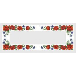 Ubrus s polními květy - Předloha