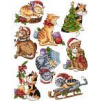 Předloha - Sváteční koťátka