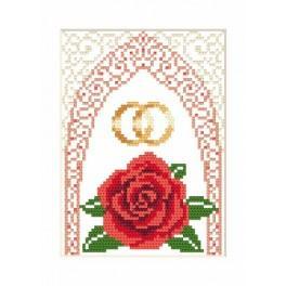 GU 4905-01 Svatební přání - Zlaté prstýnky - Předloha
