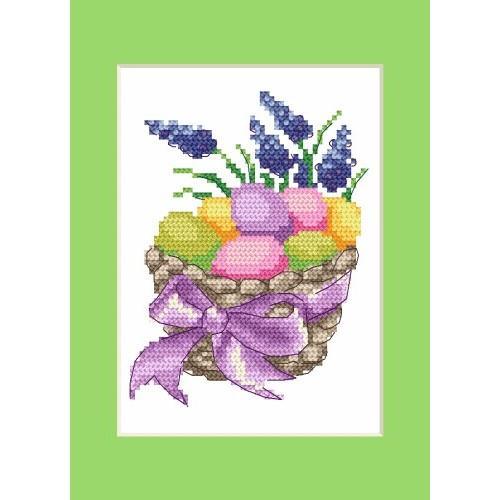 Velikonoční karta - Velikonoční kraslice - Předloha