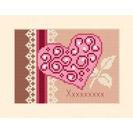 Pozvánka - srdce - Předloha