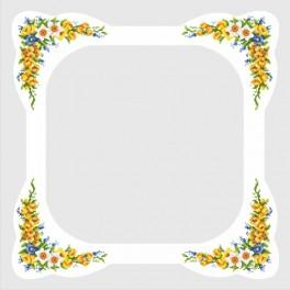 Ubrus s jarními květinami - Předloha