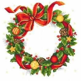 Předloha - Ubrus - Vánoční věnec
