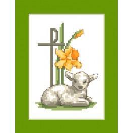 Přání - Velikonoční beránek - Předloha