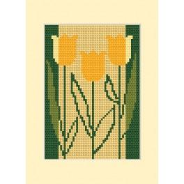 Narozeninová karta - Tři tulipány - Předloha