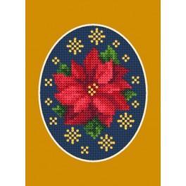 Vánoční přání- Vánoční hvězda s hvězdičkami - Předloha