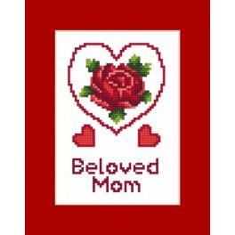 Karta na přání - Den matek - Předloha