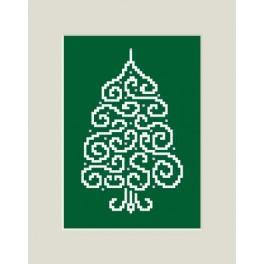 Vánoční přání - Smrk - Předloha
