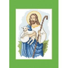 Velikonoční karta - Ježíš Kristus - Předloha