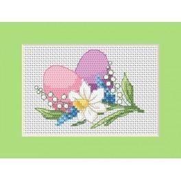 Velikonoční přání – Barevné vejce - Předloha