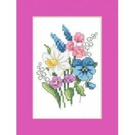 Velikonoční přání – Jarní kytice - Předloha
