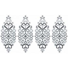 GU 8832 Předloha - Kraslice - šedá arabeska