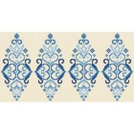 GU 8833 Předloha - Kraslice - modrá arabeska