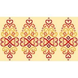 GU 8834 Předloha - Kraslice - červená arabeska
