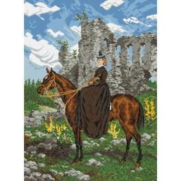 Předloha on line - Jezdkyně na koni