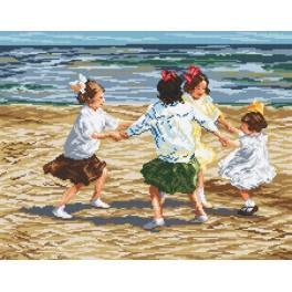 Předloha online - Děti hrající si na pláži