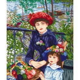W 8038 Předloha online - Dvě sestry - Pierre August Renoir