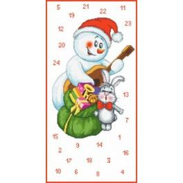 Předloha online - Adventní kalendář – Sněhuláček hudebník