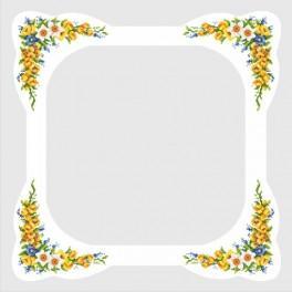 W 8283 Předloha online - Ubrus s jarními květinami