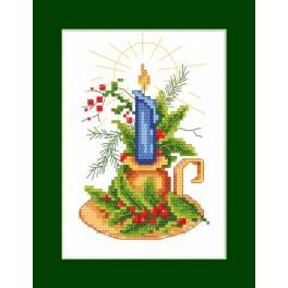 Předloha online - Vánoční přání - Vánoční svícen