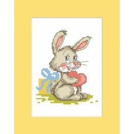 W 8309 Předloha online - Přání s králíčkem