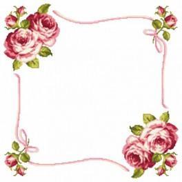 W 8348 Předloha online - Ubrousek s růžemi
