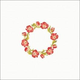 W 8355-01 Předloha online - Ubrus - Tulipánový věneček 90x90 cm