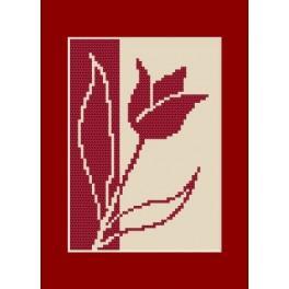 Předloha online - Narozeninová karta - Tulipán