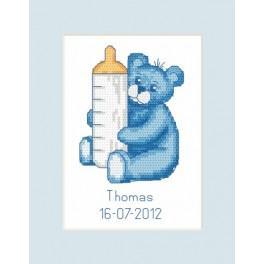 Předloha online - Narozeninová karta - Medvídek