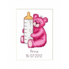 Předloha online - Birth Day Card - Teddy Bear