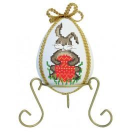 Předloha online - Vajíčko se zajíčky a narcisy