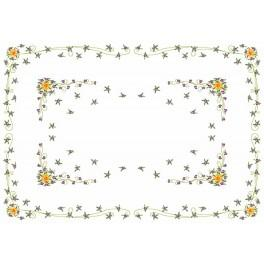 W 8463 Předloha online - Narcissa s fialkami