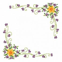 Předloha online - Narcissa s fialkami