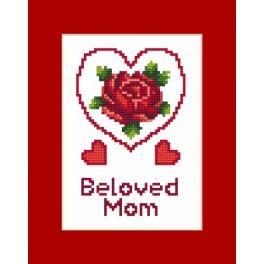Předloha online - Karta na přání - Den matek